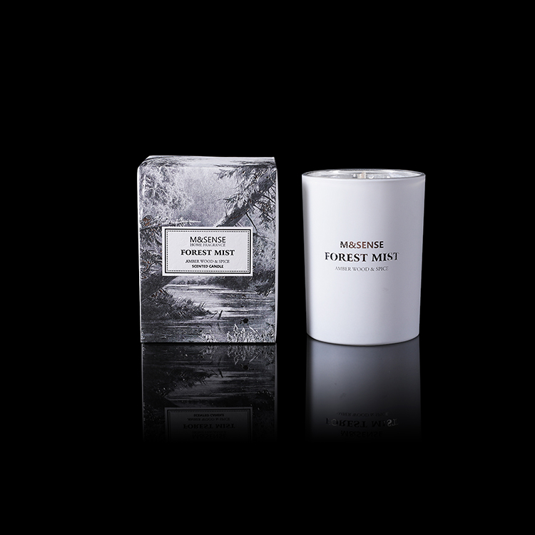 Forest Mist Amber Wood & Spice 250g Scented Candle Burning 43h