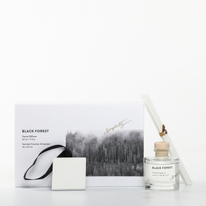 Sound of Wind Collection Black Forest 370g Scented Clay And 50ml Reed Diffuser Gift Set